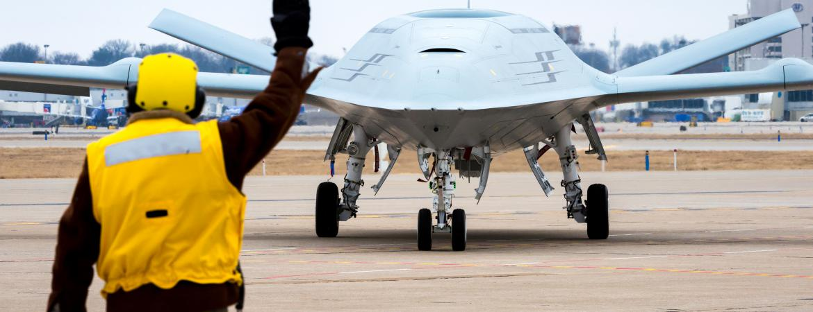 MQ-25A Stingray; first operational carrier-based unmanned aircraft; US Navy