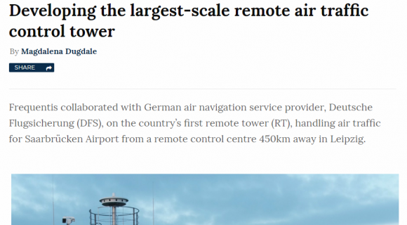 The largest-scale remote air traffic control tower